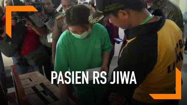 Sejumlah pasien RS Jiwa Menur, Surabaya mengikuti pencoblosan di Pemilu 2019.