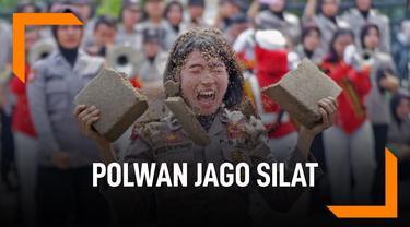 Mengenal Bripda Marselina, Polwan Cantik Jago SIlat