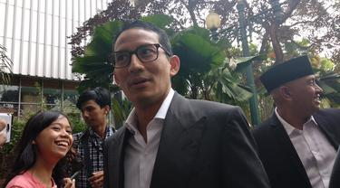 Sandiaga Uno menyambangi Balai Kota DKI Jakarta