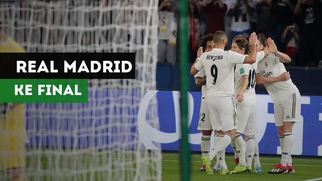 Real Madrid melaju ke final Piala Dunia Antarklub usai menaklukkan Kashima Antlers dengan skor 3-1, Rabu (19/12/2018)