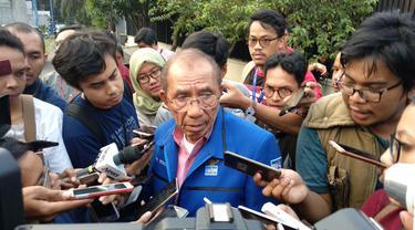 Anggota Majelis Tinggi Partai Demokrat Max Sopacua. (Liputan6.com/Nafiysul Qodar)