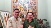 Cawagub DKI Nurmansjah Lubis bertemu mantan Gubernur DKI Jakarta Fauzi Bowo. (istimewa)