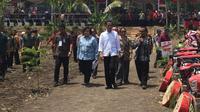 Presiden Jokowi di Probolinggo, Jawa Timur. (Liputan6.com/Lizsa Egeham)