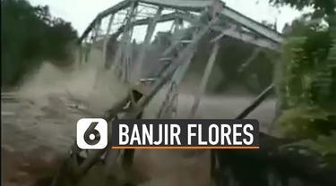 Banjir Bandang di Flores Timur yang terjadi akibat intensitas hujan yang cukup deras.