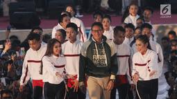 Pengusaha yang juga cawapres nomor urut 02 Sandiaga Uno saat mengisi Young Entrepreneur Summit (YES) 2019 yang digelar KAHMIPreneur di Medan, Sumatera Utara, Minggu (7/4). Acara YES 2019 di Medan menghadirkan nara sumber handal di industri kewirausahaan nasional. (Liputan6.com/HO/Asra)