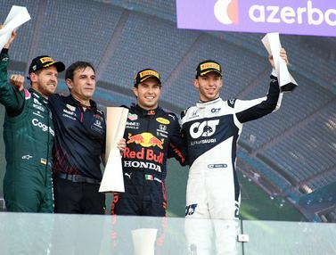 Foto F1: Podium Pertama Perez dan Vettel Bersama Mobil Baru