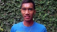 Striker PSM Makassar, Johan Yoga Utama. (Bola.com/Robby Firly)