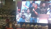 Pengamat politik Rocky Gerung saat menghadiri acara Deklarasi Nasional Alumni Perguruan Tinggi Seluruh Indonesia Untuk Pemenangan Prabowo-Sandi. (Merdeka.com/Nur Habibie)
