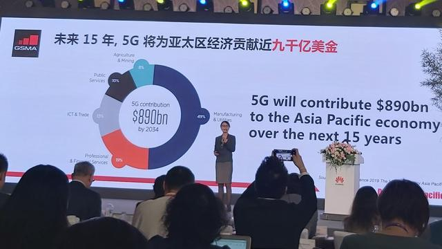 The Head of Greater China and Head of Asia, GSMA, Sinan Chen Bo dalam acara Huawei Asia-Pacific Innovation Day ke-5 di Chengdu, Tiongkok, Selasa (3/9/2019)