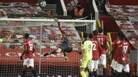 Tak ada gol tambahan yang tercipta dari kedua tim di sisa pertandingan berkat penampilan gemilang David De Gea yang beberapa kali menggagalkan peluang Newacastle. (Foto: AP/Pool/Oli Scarff)