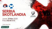 Kualifikasi Piala Eropa 2020 - Serbia Vs Skotlandia (Bola.com/Adreanus Titus)
