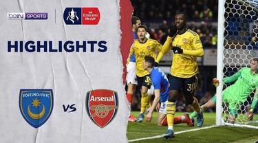 Berita video gol-gol yang tercipta saat Arsenal mengalahkan Portsmouth pada babak kelima Piala FA 2019-2020 di Stadion Fratton Park, Senin (2/3/2020).