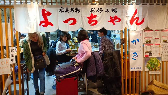 Kedai okonomiyaki di Hiroshima, Jepang (Liputan6.com/ Mevi Linawati)