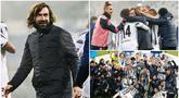 Raut wajah bahagia terpancar dari pelatih Juventus, Andrea Pirlo, usai tim besutannya berhasil menaklukkan Napoli pada laga final Piala Super Italia. Trofi tersebut merupakan yang pertama bagi Pirlo sebagai pelatih.