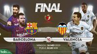 Final Copa del Rey 2018-2019: Barcelona vs Valencia. (Bola.com/Dody Iryawan)