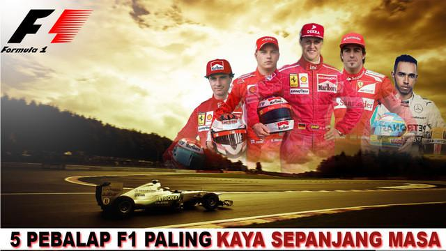 Inilah 5 pebalap F1 terkaya sepanjang masa salah satunya adalah Michael Schumacher pria asal jerman ini diperkirakan kekayaan dia mencapai 10.4 miliar rupiah