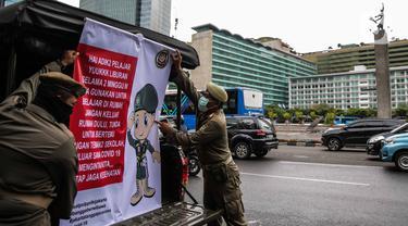 Tangkal Corona, Satpol PP Sosialisasikan PHBS Keliling