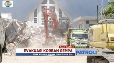 Basarnas hentikan evakuasi korban gempa dan tsunami di Hotel Roa-Roa, Palu, Sulawesi Tengah.