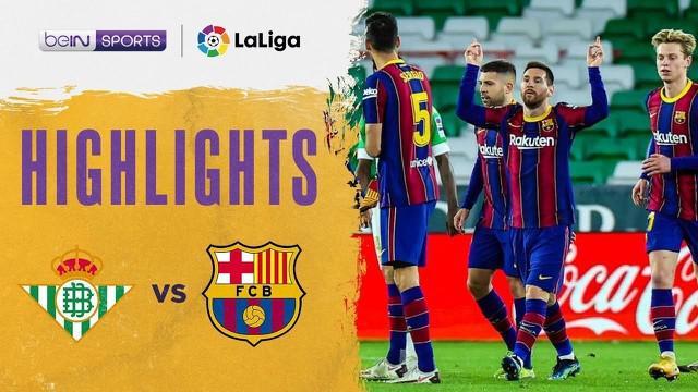Berita video highlights laga seru pada pekan ke-22 Liga Spanyol 2020/2021 antara Real Betis melawan Barcelona yang berakhir dengan skor 2-3, Senin (8/2/2021) dinihari WIB.