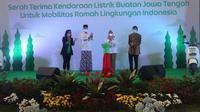Inisiatif Grab Sediakan 6 Ribu Kendaraan Listrik di Semarang Didukung Gubernur Jateng  (Liputan6.com/Luthfie)