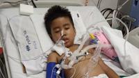 Arjuna Arya bocah berusia enam tahun penderita GBS (Istimewa)