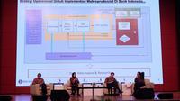 Bank Indonesia (BI) bersama Lembaga Penjamin Simpanan (LPS) dan Ikatan Sarjana Ekonomi Indonesia (ISEI) Sumatera mengadakan seminar nasional di Kota Medan, pada Kamis (1/11/2018) ini. Liputan6.com/Reza Efendi