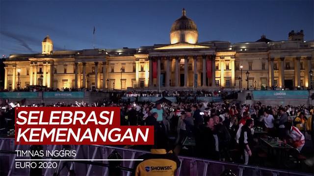 Berita video perayaan fans Timnas Inggris di London, usai The Three Lions lolos ke Final Euro 2020