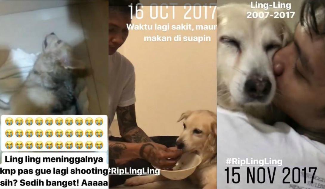 Young Lex kehilangan anjing kesayangannya, Ling Ling [foto: instagram.com/young_lex18]