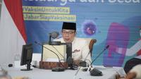 Gubernur Jawa Barat Ridwan Kamil saat Launching Kompetisi Inovasi Jawa Barat tahun 2021 secara virtual dari Gedung Pakuan, Kota Bandung, Kamis (22/7/2021). (Foto: Rizal/Biro Adpim Jabar)