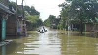 Ilustrasi – Banjir Sidareja, Cilacap pada akhir 2017 lalu. (Liputan6.com/Muhamad Ridlo)