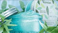 Berikut sensasi saat menggunakan losion berbahan dasar Verbena yang segar bak mandi air es. (Foto: Dok. Loccitane)