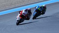 Andi Gilang saat mengikuti lomba Moto2 Jerez, Minggu (20/7/2020). (Istimewa)