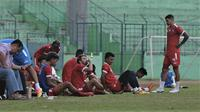 Sesi latihan Arema FC di Stadion Gajayana, Malang, Rabu (3/7/2019). (Bola.com/Iwan Setiawan)