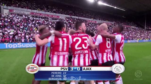 Berita video gol-gol yang mengantarkan PSV menjadi juara Eredivisie 2017-2018 dengan mengalahkan Ajax. This video presented by BallBall.