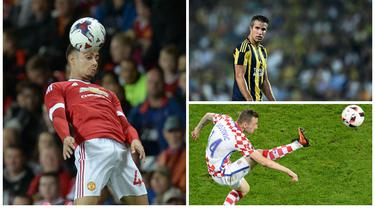 Kabar transfer terkini, Jumat (29/7/2016), Jose Mourinho tidak memasukan bintang muda MU, Andreas Pereira, sebagai skuat musim depan, sementara Robin van Persie dikabarkan mendekat ke klub Skotlandia, Rangers. (AFP)