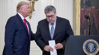 Presiden AS Donald Trump dan Jaksa Agung William Barr. (Source: AP)
