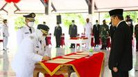 Pelantikan kepala daerah oleh Gubernur Riau Syamsuar. (Liputan6.com/Dok Diskominfo Riau/M Syukur)