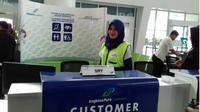 Fasilitas untuk penumpang berkebutuhan khusus di bandara Sultan Aji Muhammad Sulaiman. (Liputan6.com/Ramdania El Hida)