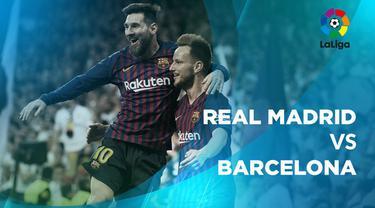 Berita video statistik Real Madrid vs Barcelona pada laga pekan ke-26 La Liga 2018-2019, Minggu (3/3/2019) di Santiago Bernabeu.