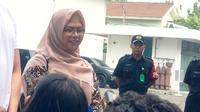 Putri bakal cawapres Ma'ruf Amin, Haniatunnia di RSPAD Gatot Soebroto, Jakarta (Liputan6.com/ Yunizafira Putri)