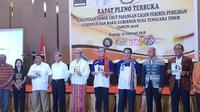 Pasangan calon gubernur dan wakil gubernur di Pilkada NTT 2018 (Liputan6.com/ Ola Keda)