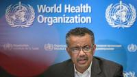 Kepala WHO Tedros Adhanom Ghebreyesus. (Liputan6/AFP)
