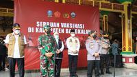 Panglima TNI Marsekal Hadi Tjahjanto dan Kapolri Jenderal Listyo Sigit Prabowo. (Liputan6.com/Dian Kurniawan)
