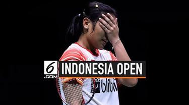 Tunggal putri Indonesia, Gregoria Mariska Tanjung terhenti langkahnya di Indonesia Open 2019 setelah gagal kalahkan pebulutangkis terbaik Thailand, Ratchanok Intanon.