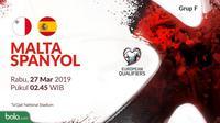 Kualifikasi Piala Eropa 2020 - Malta Vs Spanyol (Bola.com/Adreanus Titus)