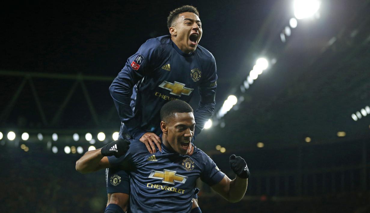 FOTO Tekuk Arsenal Manchester United Lanjutkan