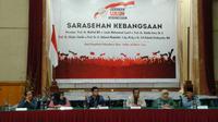 Wakil Ketua KPK Laode M Syarif menjadi pembicara dalam Forum Sarasehan Kebangsaan di Riau. (Liputan6.com/ M Syukur)