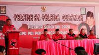 Wisma Perjuangan PDIP Jatim menjadi sekolah partai pertama yang diluncurkan oleh DPD. (Liputan6.com/ Dian Kurniawan)