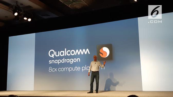 Qualcomm umumkan Snapdragon 8cx di Maui, Hawaii, Amerika Serikat. Liputan6.com/ Agustinus Mario Damar