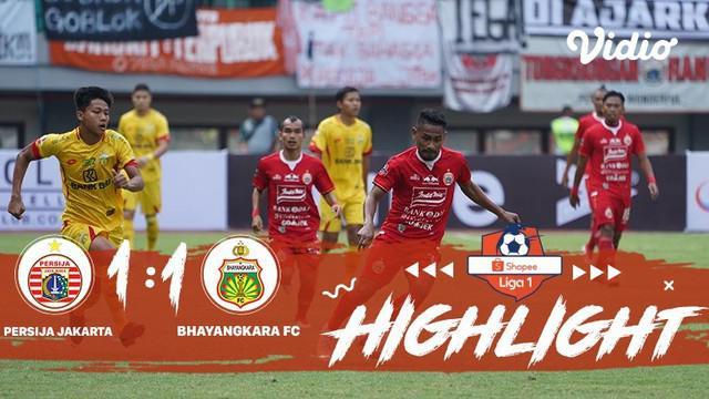 Laga lanjutan Shopee Liga 1, Persija Jakarta VS Bhayangkara berakhir imbang dengan skor 1-1 #shopeeliga1